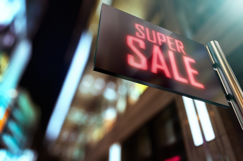 electronic signage for retail stores